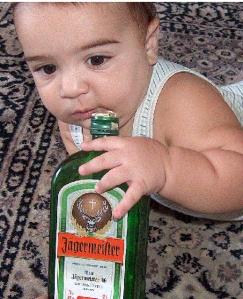 Have a shot of philanthropy kid.