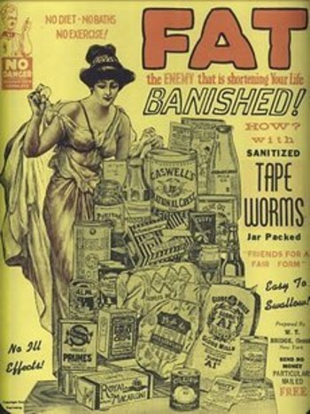 Tapeworms. Like having your very own Sea Monkeys inside your alimentary tract!