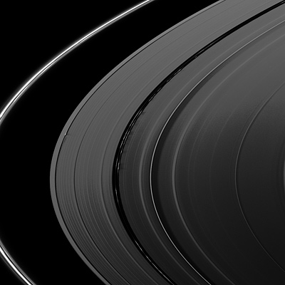 Rings of Saturn from Cassini space probe