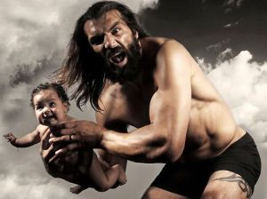 Did raise a fuss about testing man/wolf French rugby player Chabal? No.