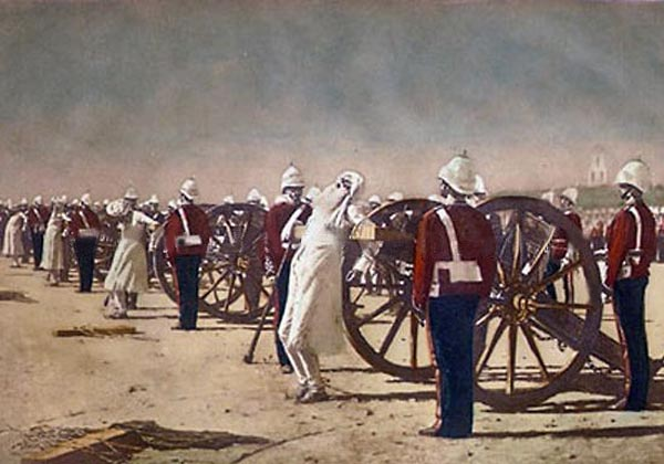 British Atrocities in India http://notesfromthebartender.wordpress.com/2010/01/22/religious-rifles-flashback-to-1857/